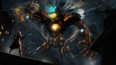Image of Giant steampunk robot