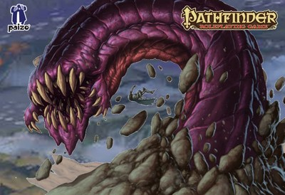 Image of Purple worm battle