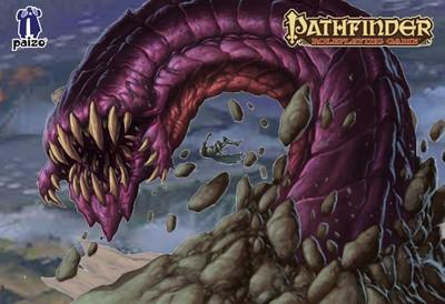 Image of Purple worm battle