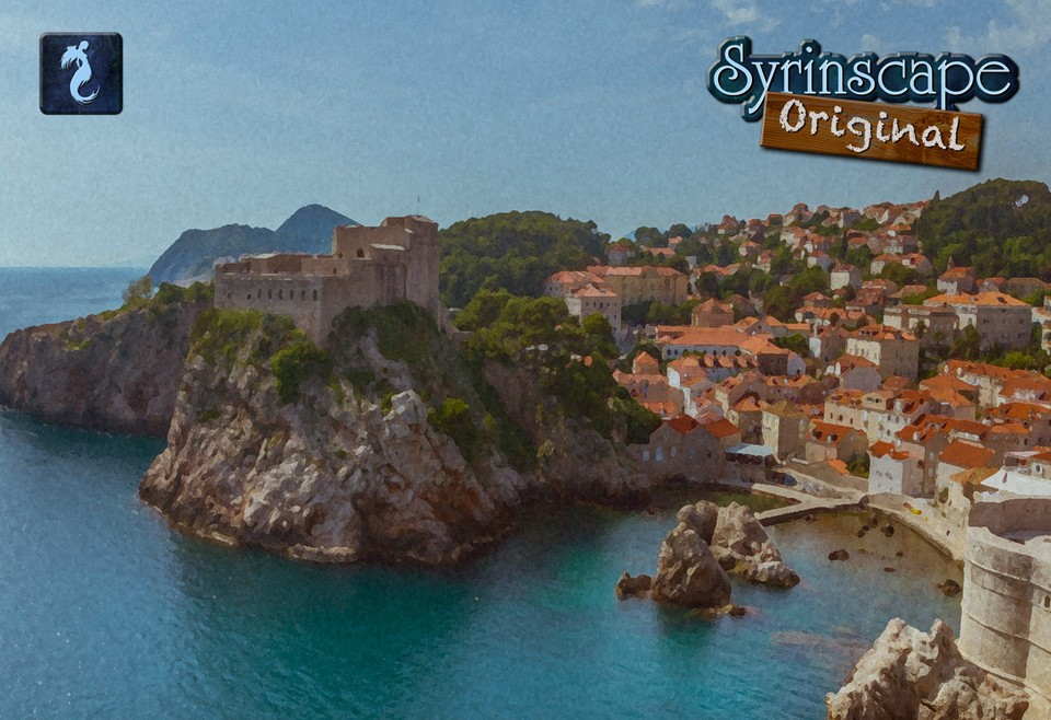 Image of Bustling port town
